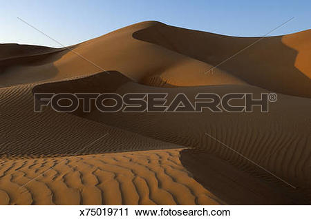 Stock Photography of Sand Dunes , Rub Al.