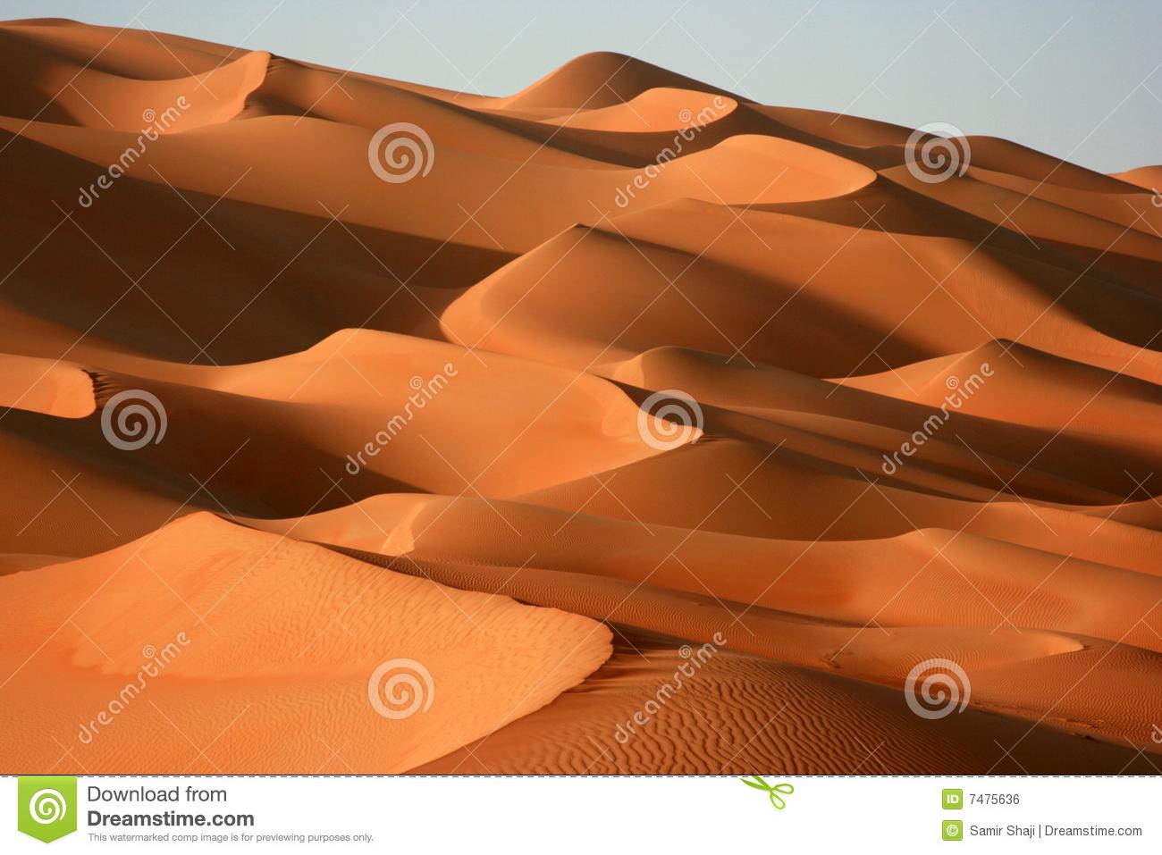 Magical Dunes Of Rub Al Khali Royalty Free Stock Image.