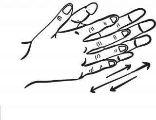 Rub hands clipart.