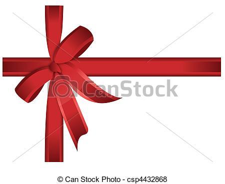 ruban, /, cadeau, vecteur, arc, rouges.