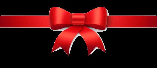 Ruban Rouge avec beau noeud PNG transparents.