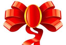 Ruban pour décoration de cadeau de Noël Clipart Picture.
