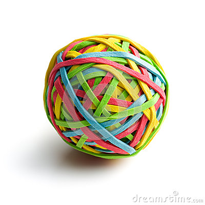 Rubber Band Stock Images.
