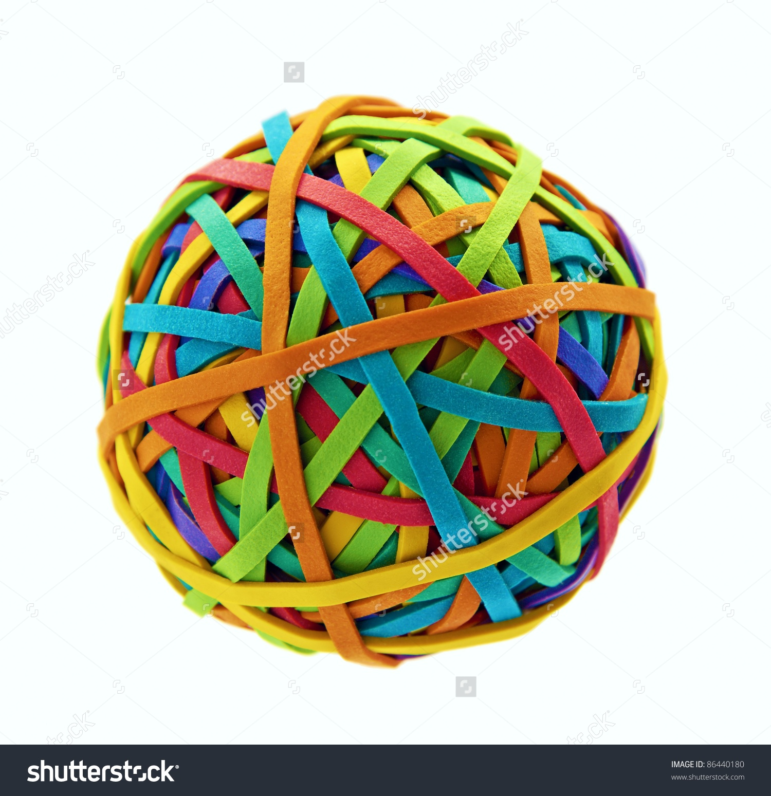 Rubber Band Ball Stock Photo 86440180.