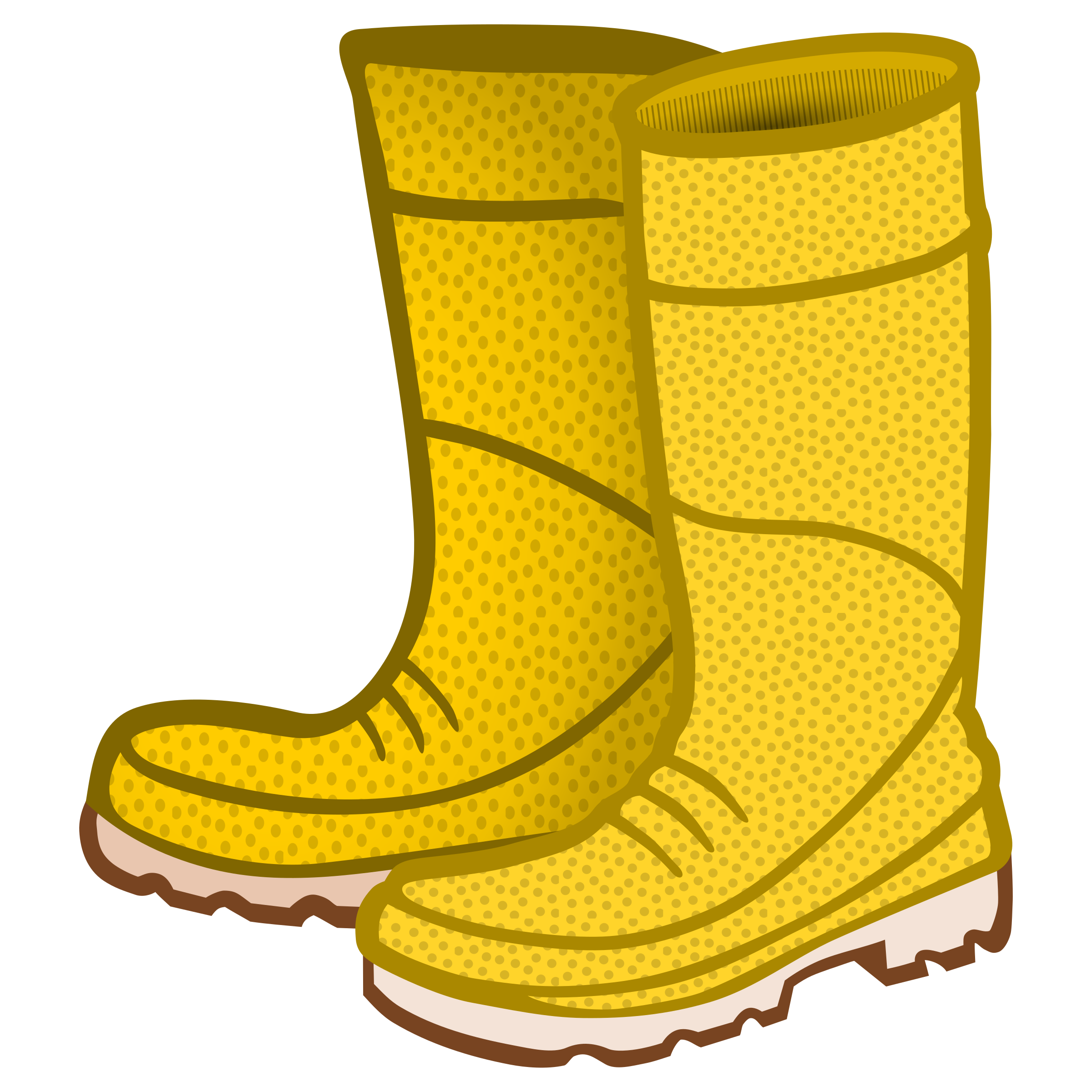 Rain boots clipart rubber boots coloured.