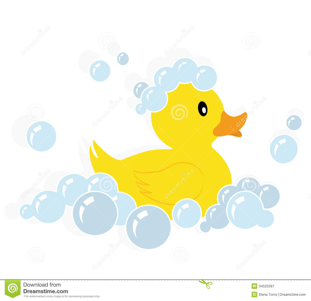 Girl rubber duckie clipart.