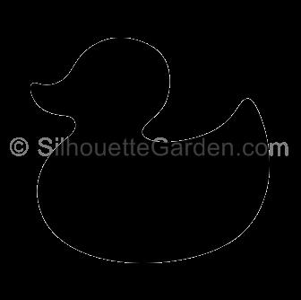 Rubber Duck Silhouette.
