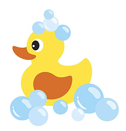Amazon.com: Baby Bubble Bath Time Rubber Ducky Vinyl Decal.