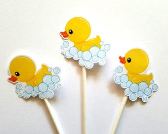 Rubber ducky cupcake.