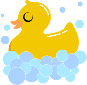 Rub Duck Bubbles Clip Art at Clker.com.