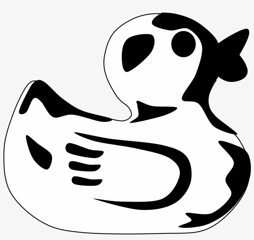 Rubber Duck Clip Art Black And White Duck Clipart Black.