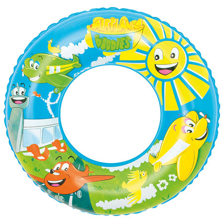 Designer Inflatable Printed Swimming Pool Rubber Ring.