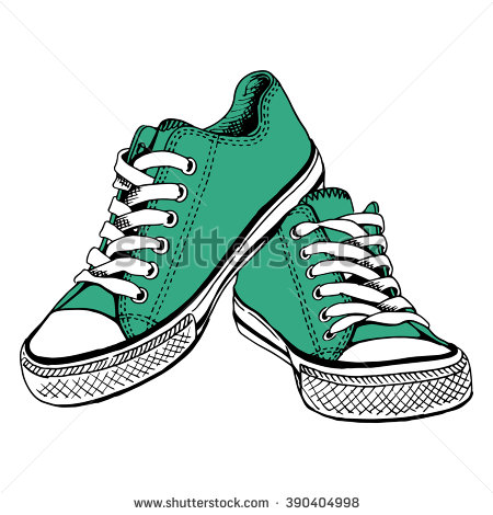 Tennis Shoe Rubber Stamp
