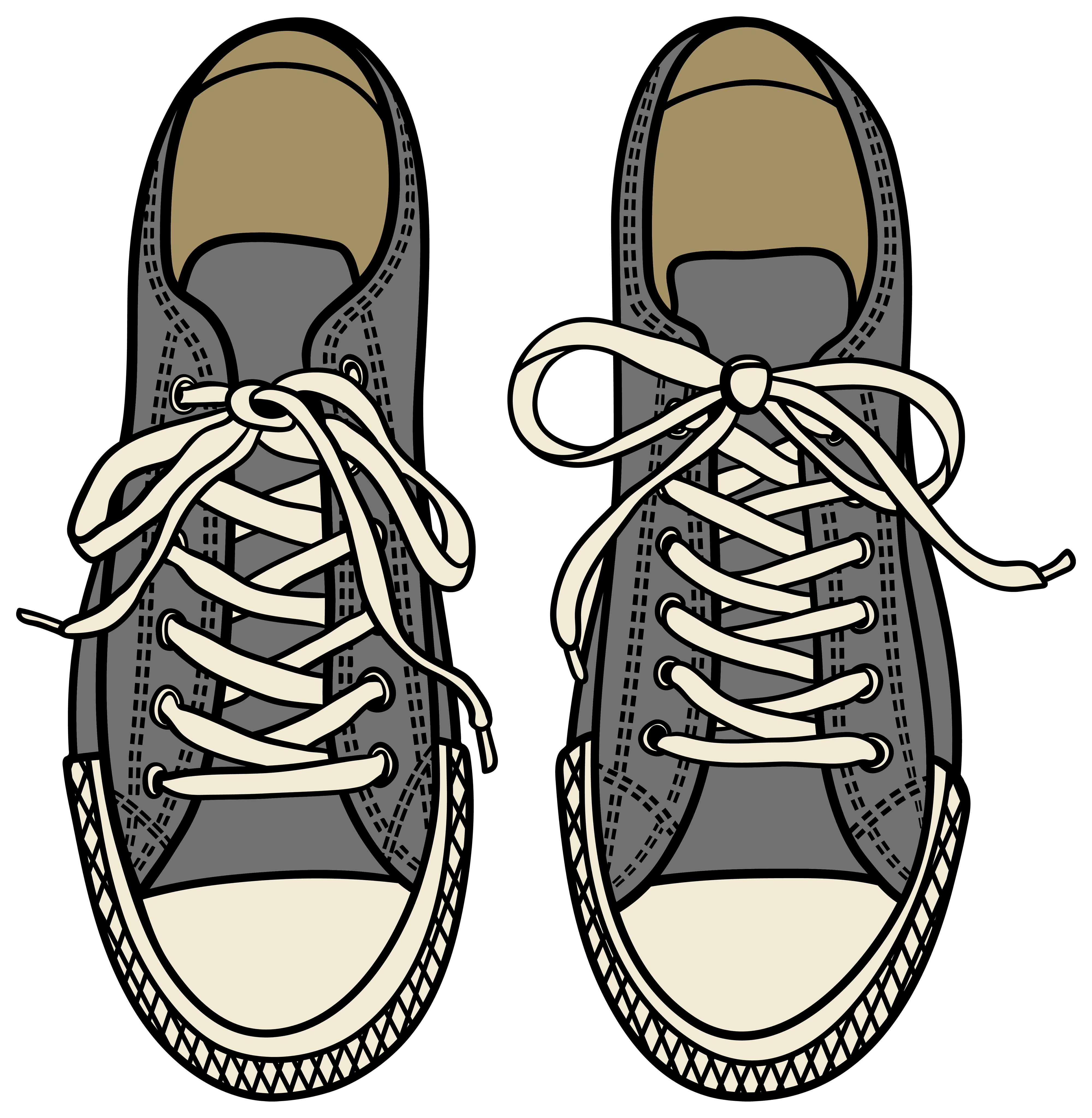 Grey Sneakers PNG Clipart.