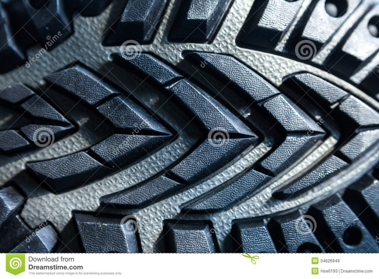 Hiking Shoe Rubber Sole Royalty Free Stock Images.