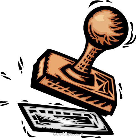 Stamping clipart.