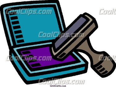 Craft Rubber Stamps Clipart.