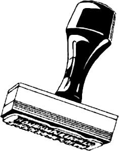 Rubber Stamps Clipart.