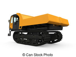 Stock Illustration of Rubber Track Crawler Carrier isolated on.
