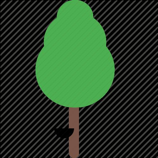 Garden, nature, park, plant, rubber, tree icon.