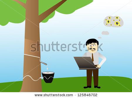 Rubber Tree Plantation Stock Photos, Royalty.