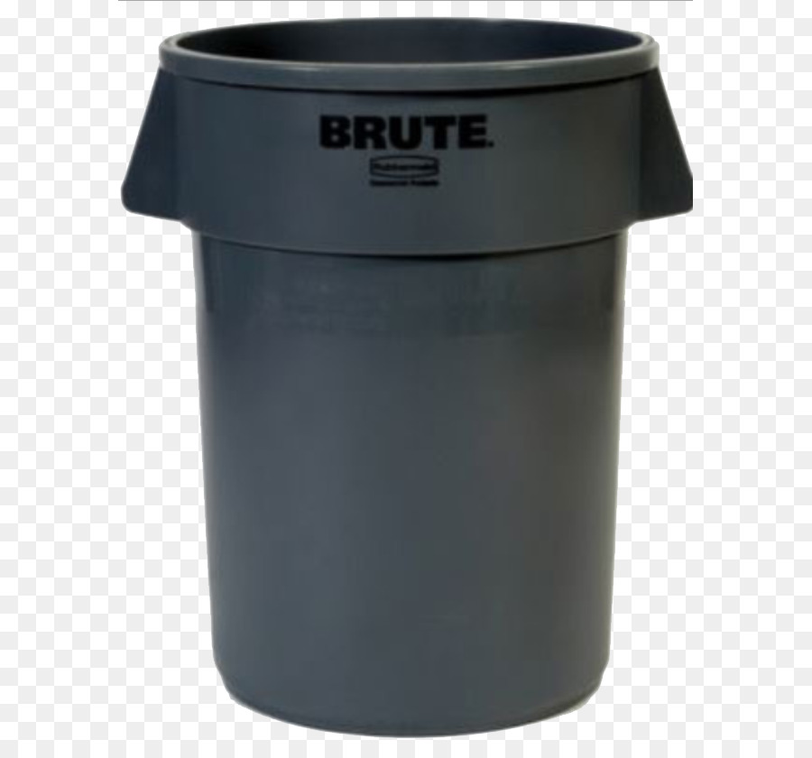 rubbermaid brute 32 gal. gray round plastic trash can.