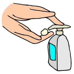 Soap On Hands Clipart.