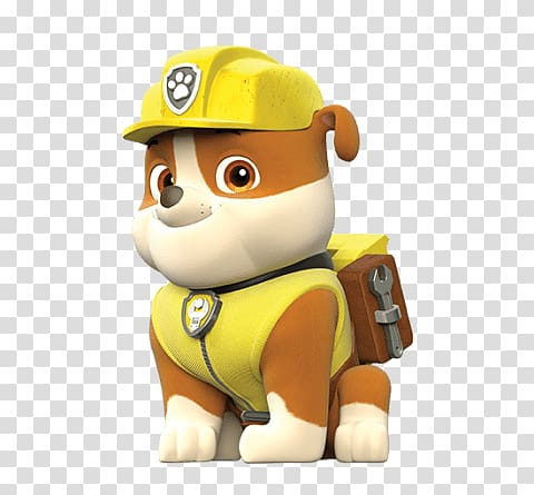 Paw Patrol character , Paw Patrol Rubble transparent.