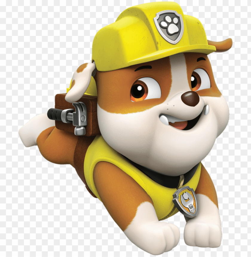 Download paw patrol rubble png cartoon clipart png photo.