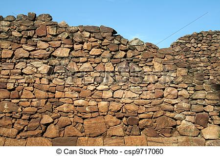 Stock Photography of Rubble Wall.