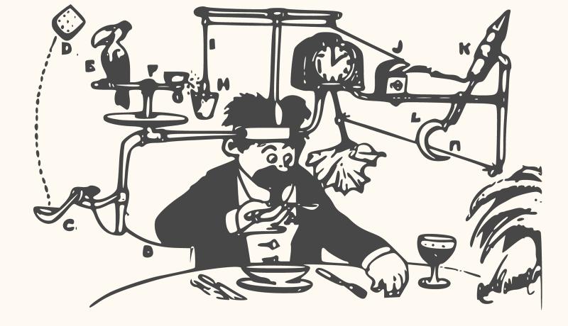 A Rube Goldberg Machine.