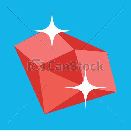 Vector of Vector Ruby Icon csp17149885.