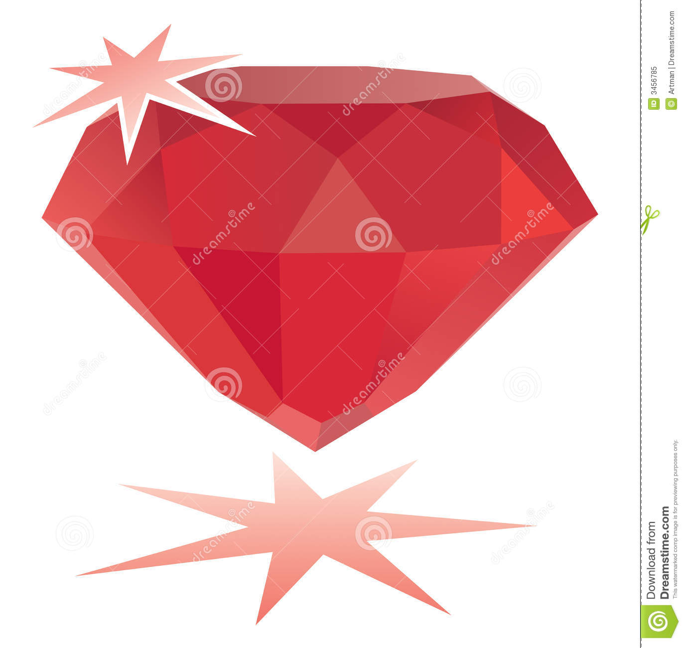 Ruby Gemstone / Vector Royalty Free Stock Photo.