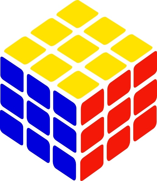 Rubik's Cube Simple clip art Free vector in Open office drawing.