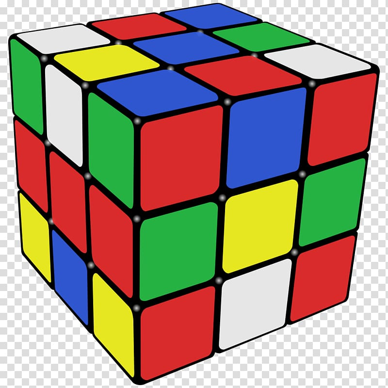 Rubik\'s Cube transparent background PNG clipart.