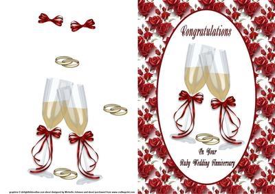 Ruby Wedding Anniversary Clipart.