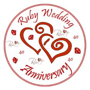 image is loading 25 personalized 40th wedding anniversary.