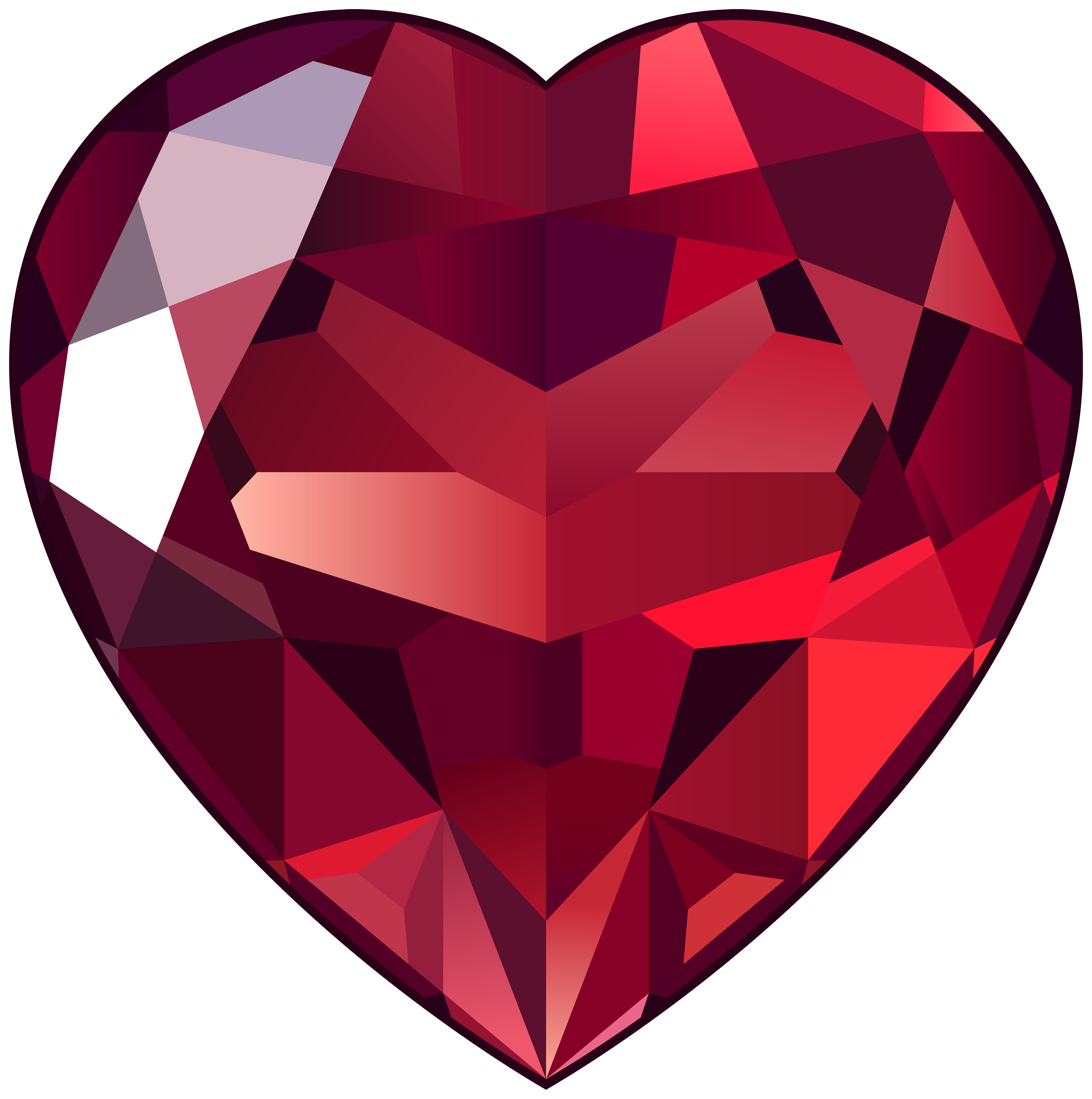 Ruby Heart PNG Clipart.