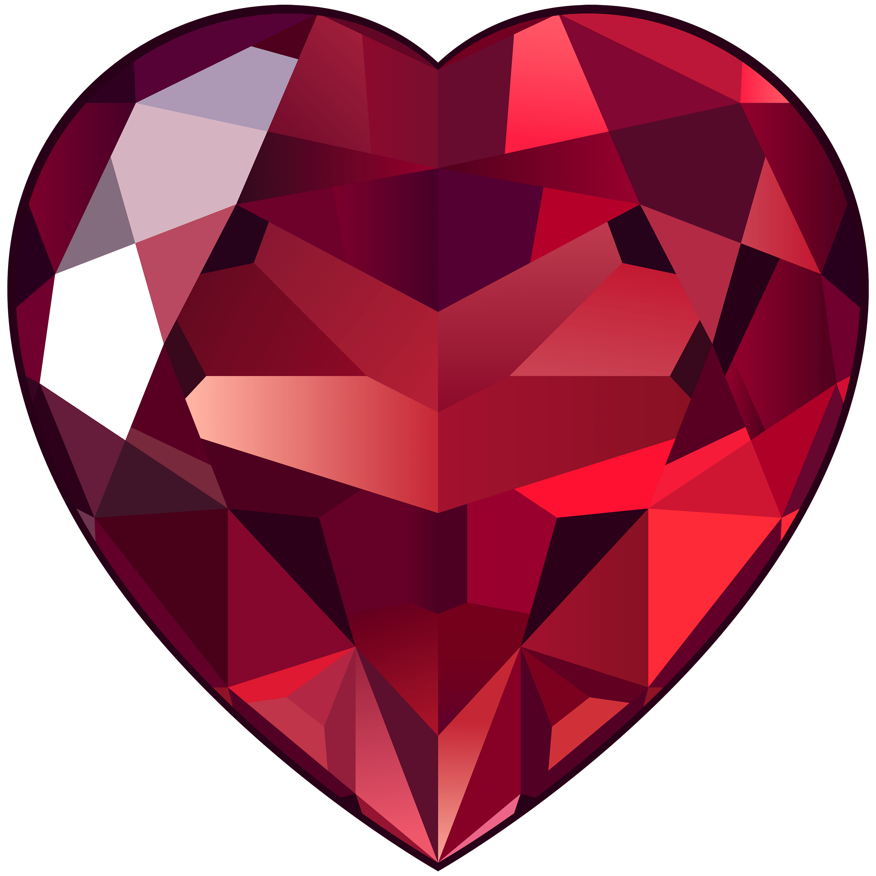 Shining Ruby Clipart transparent PNG.