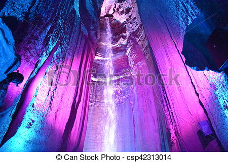 Stock Photography of Ruby Falls in Chattanooga, Tennessee in the.