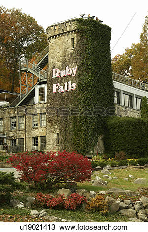 Stock Photo of Chattanooga, TN, Tennessee, Ruby Falls, Lookout.