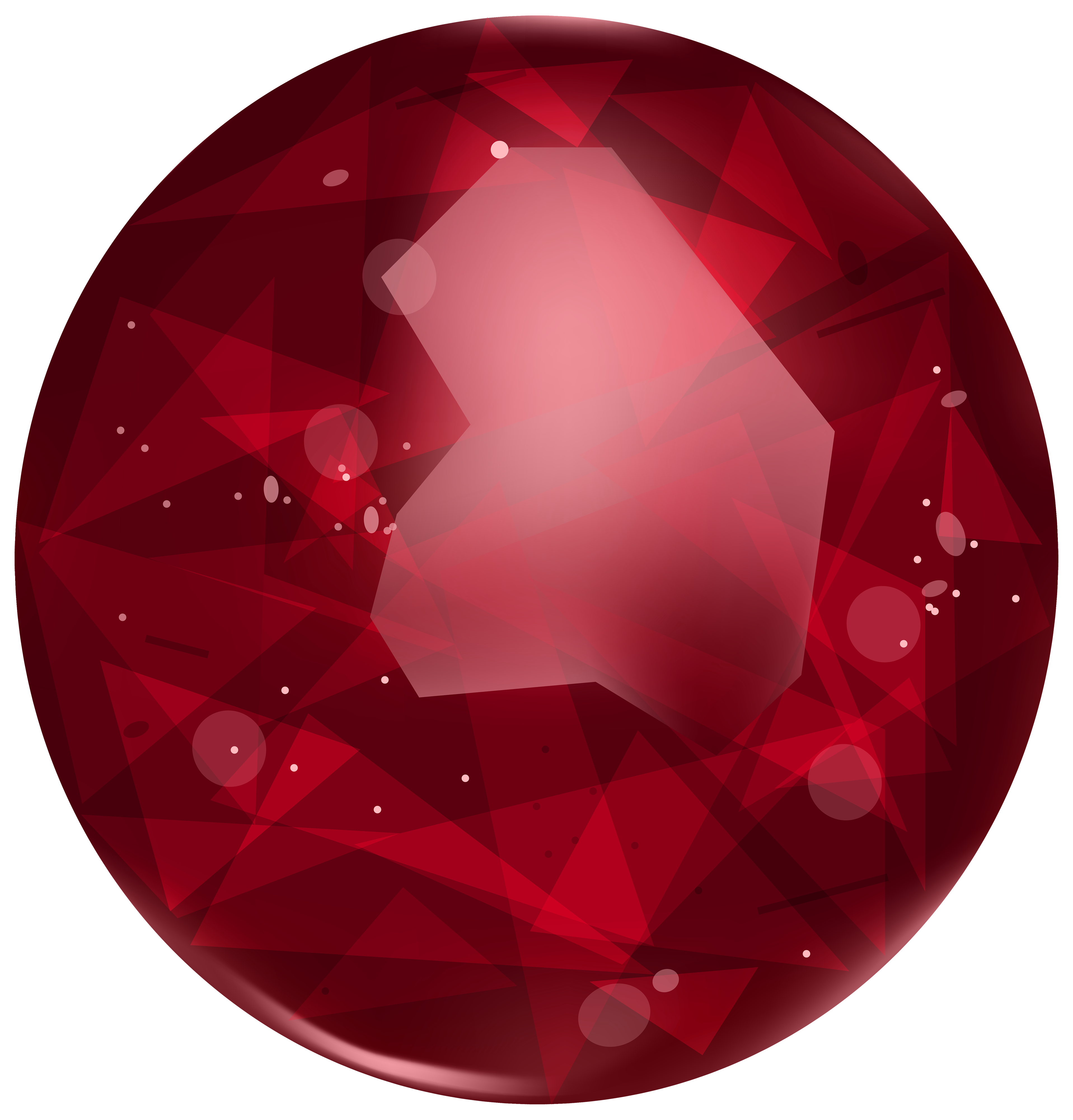 Oval Ruby PNG Clipart.