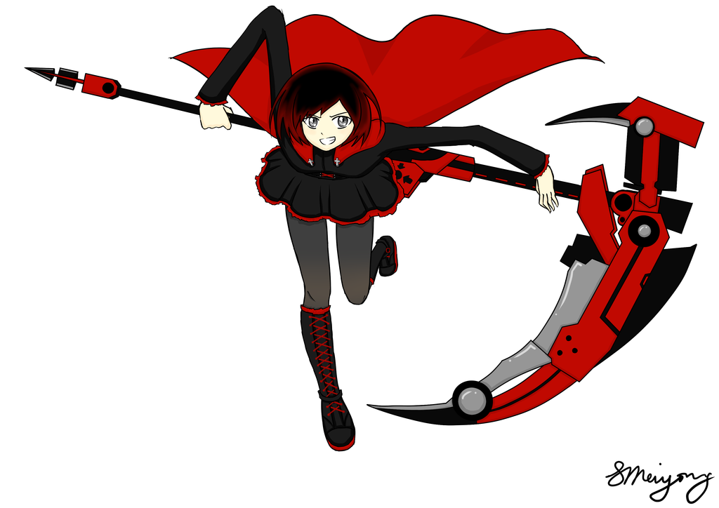 Ruby Rose from RWBY by MsVioletMagpie on DeviantArt.