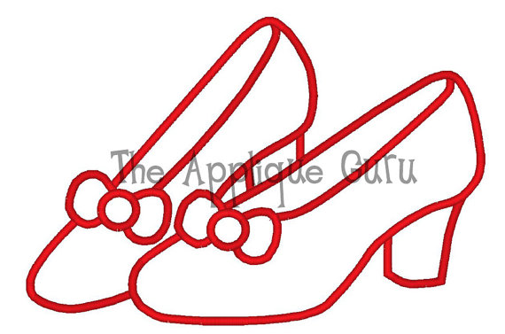 Slippers Machine Applique Embroidery Design.