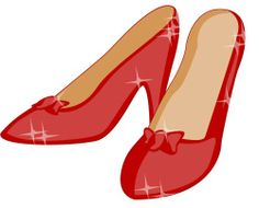 Ruby Slippers Clip Art.