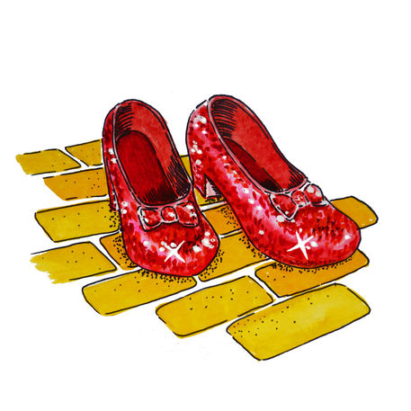 Wizard Of Oz Dorothy S Ruby Slippers Painting Art Prints And.