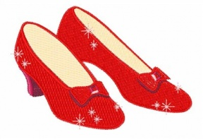 Ruby Slippers Clipart.