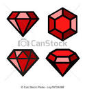 Ruby stone clipart.