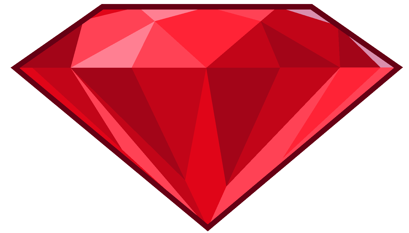 Ruby Stone PNG Transparent Images.