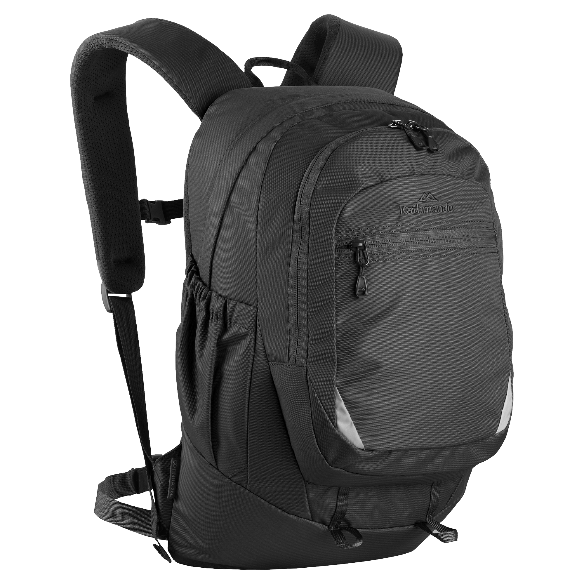 Kathmandu Black Backpack transparent PNG.